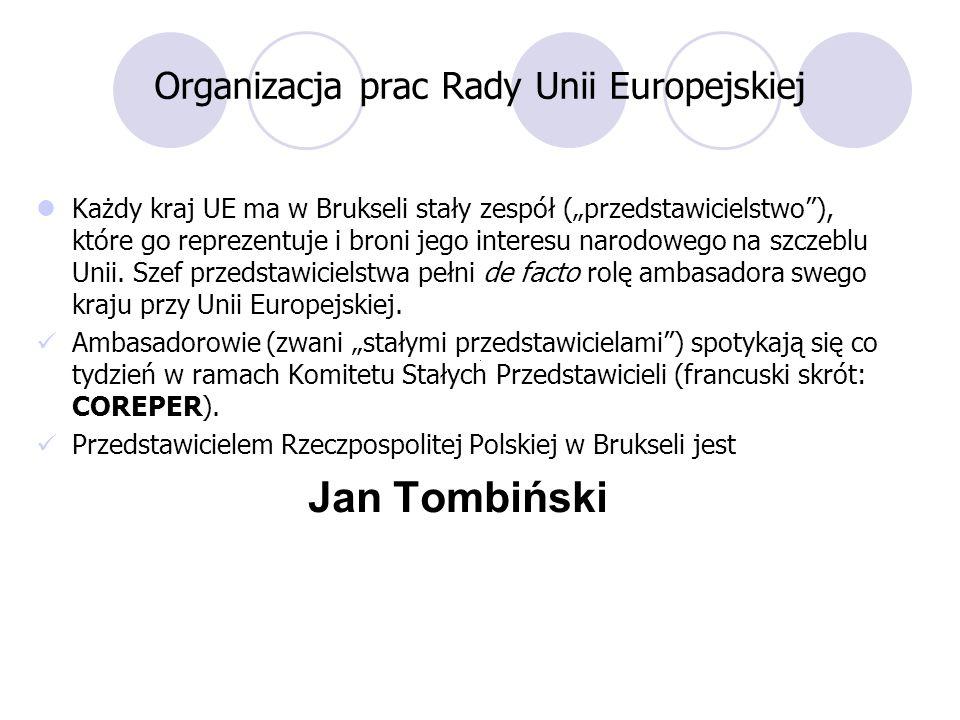 Organizacja prac Rady Unii Europejskiej