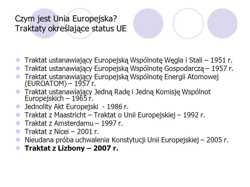 Czym jest Unia Europejska Traktaty określające status UE
