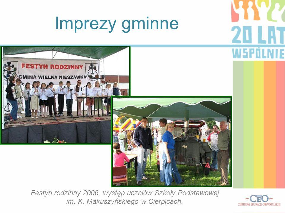 Imprezy gminne Festyn rodzinny 2006, występ uczniów Szkoły Podstawowej im.
