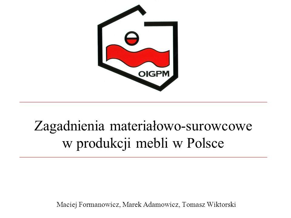 Zagadnienia materiałowo-surowcowe w produkcji mebli w Polsce