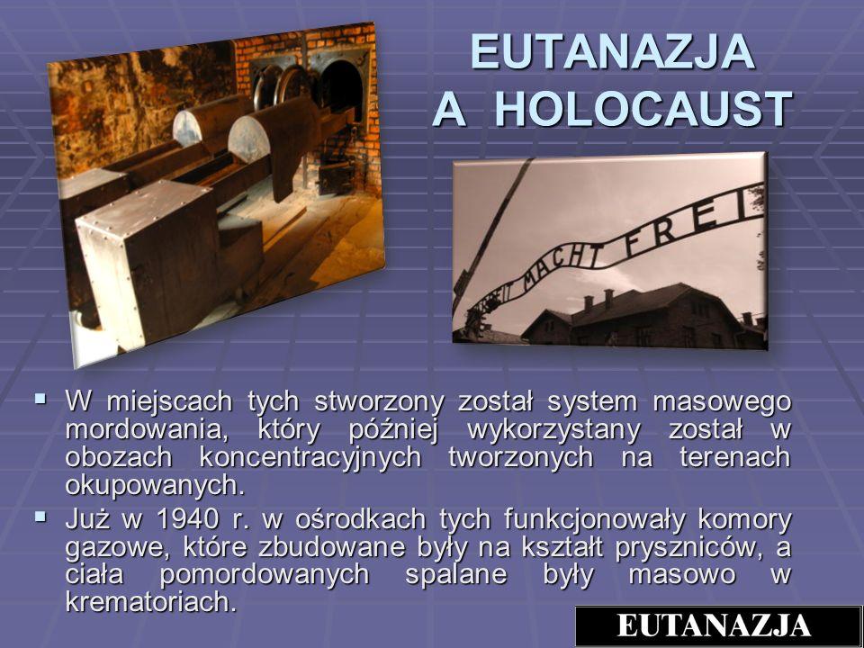 EUTANAZJA A HOLOCAUST