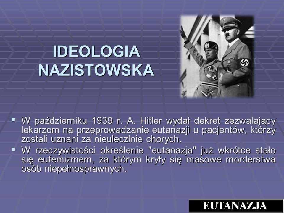 IDEOLOGIA NAZISTOWSKA