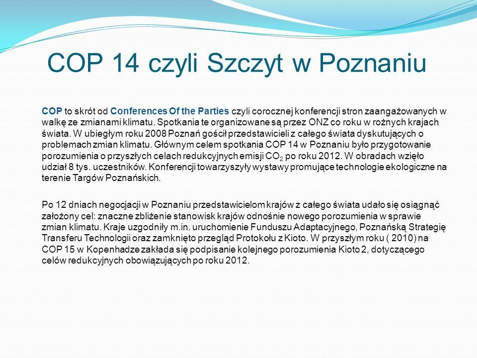 COP 14 czyli Szczyt w Poznaniu