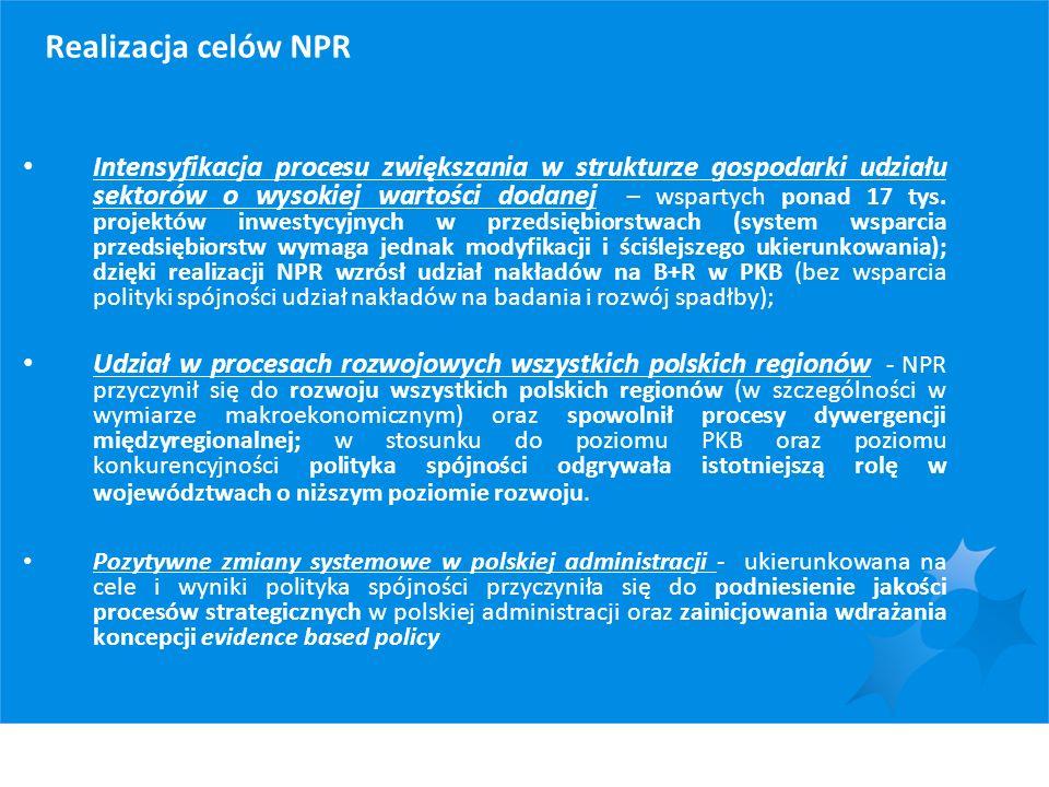 Realizacja celów NPR