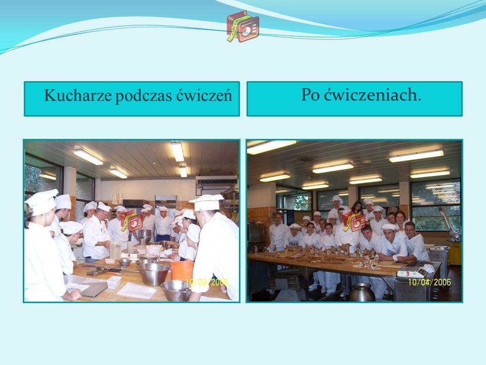Kucharze podczas ćwiczeń