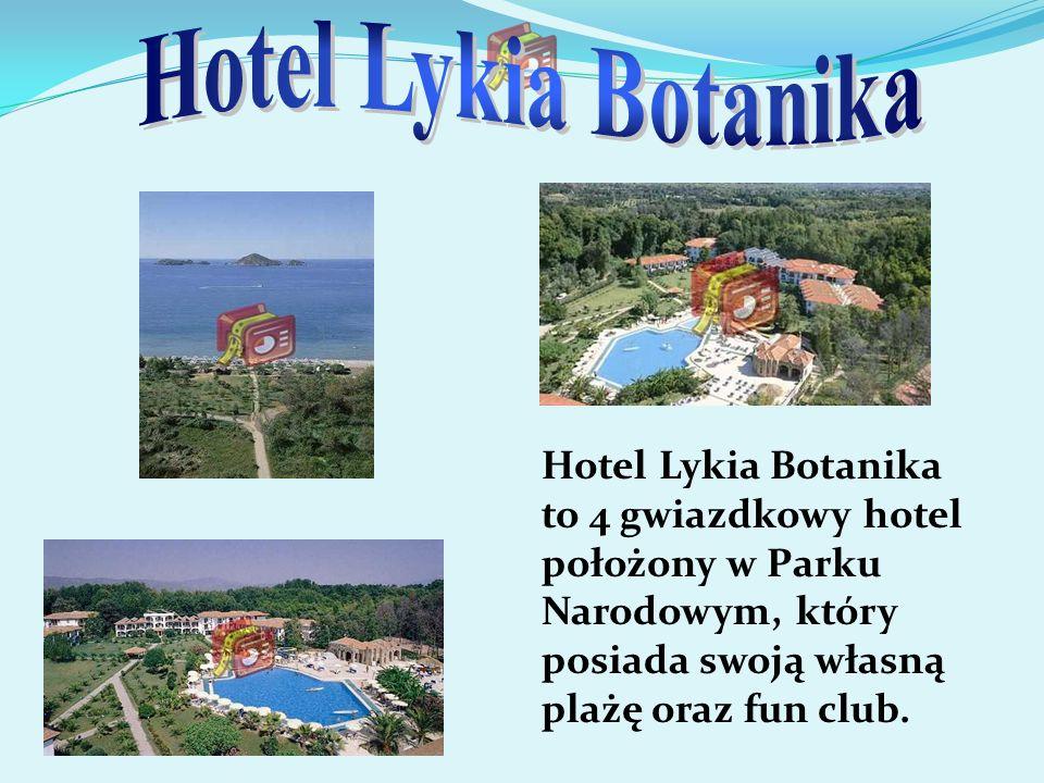 Hotel Lykia Botanika Hotel Lykia Botanika to 4 gwiazdkowy hotel położony w Parku Narodowym, który posiada swoją własną plażę oraz fun club.