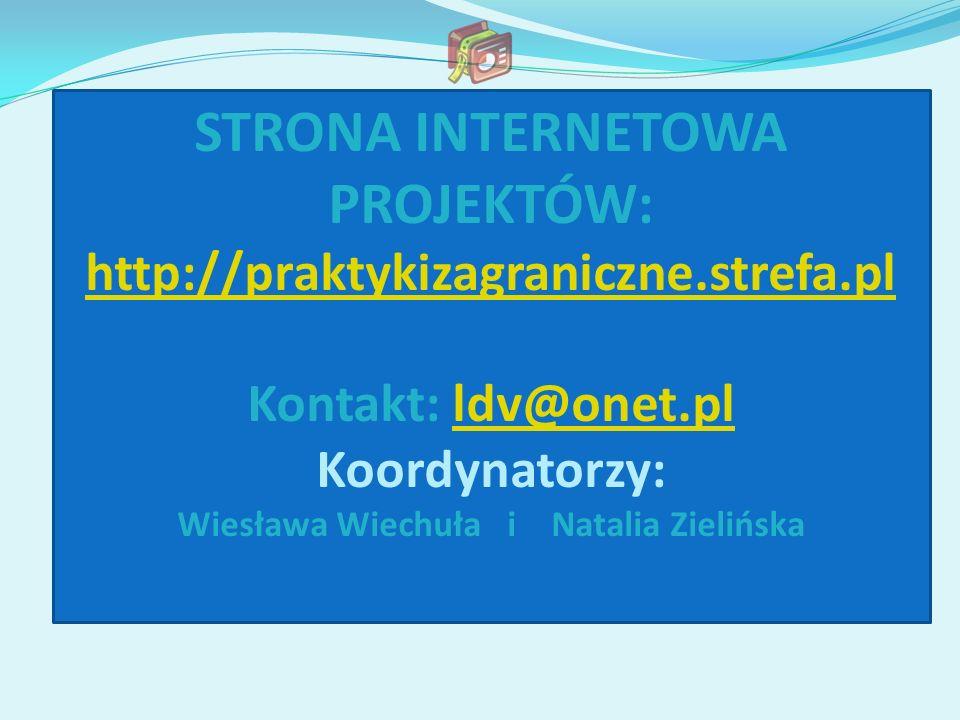 STRONA INTERNETOWA PROJEKTÓW: Wiesława Wiechuła i Natalia Zielińska