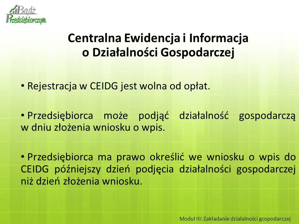 Centralna Ewidencja i Informacja o Działalności Gospodarczej
