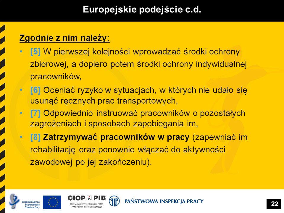 Europejskie podejście c.d.
