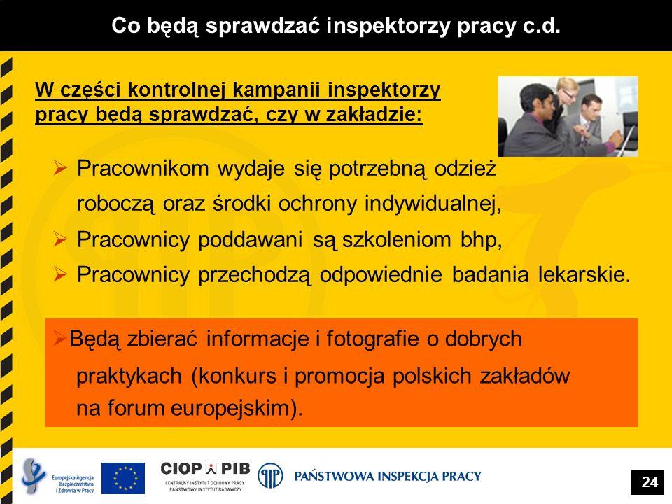 Co będą sprawdzać inspektorzy pracy c.d.
