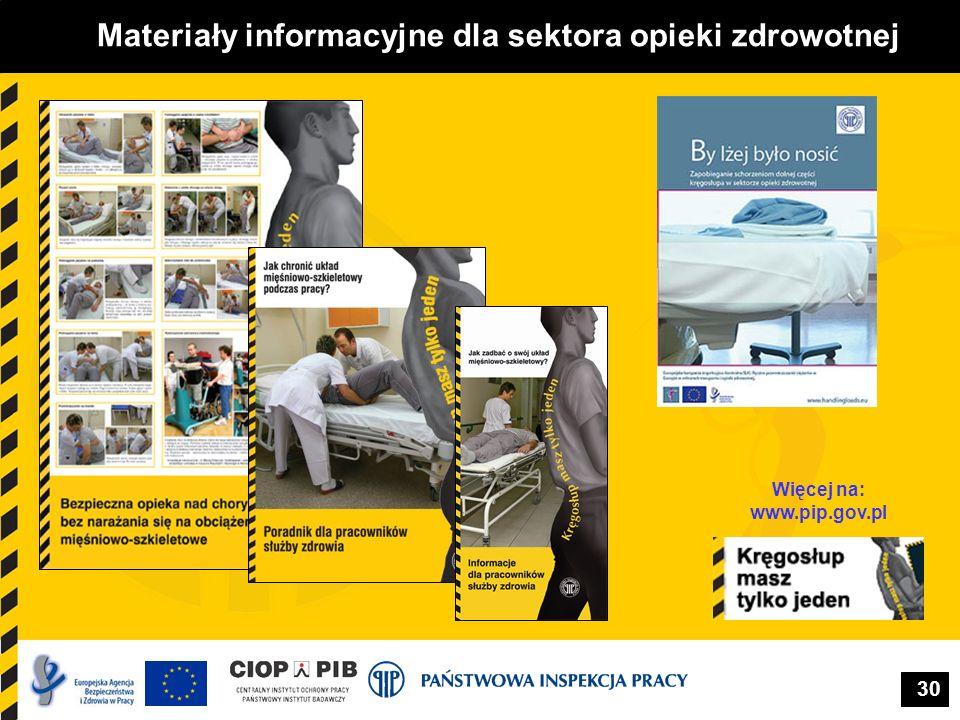 Materiały informacyjne dla sektora opieki zdrowotnej