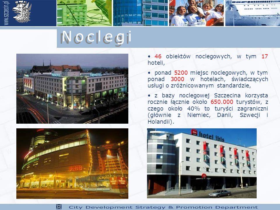 Noclegi 46 obiektów noclegowych, w tym 17 hoteli,