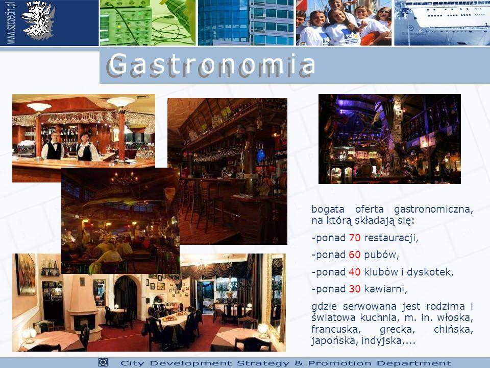 Gastronomia bogata oferta gastronomiczna, na którą składają się: