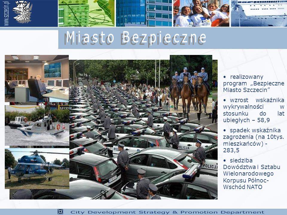 """Miasto Bezpieczne realizowany program """"Bezpieczne Miasto Szczecin"""