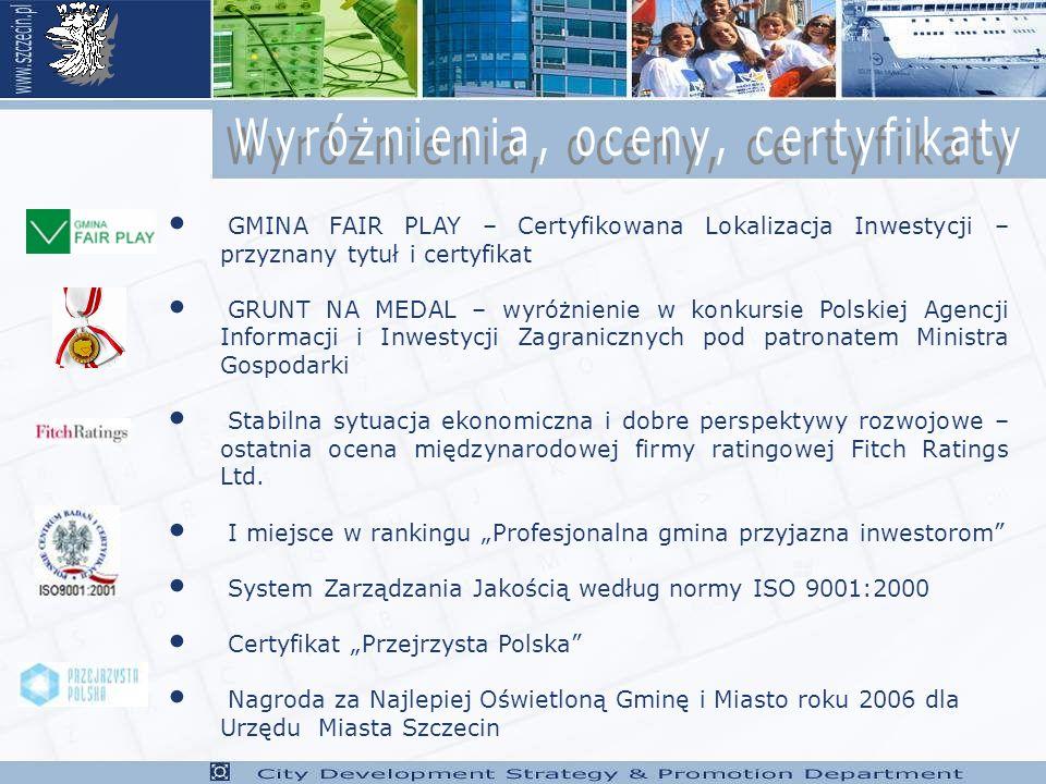Wyróżnienia, oceny, certyfikaty