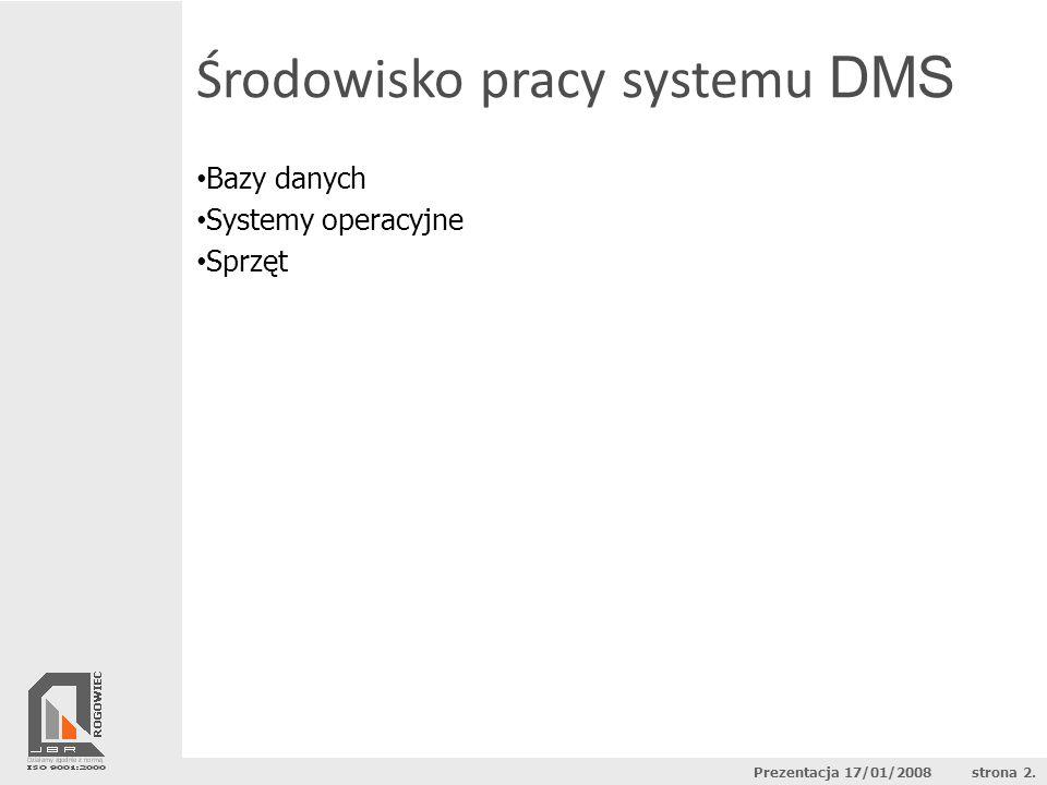 Bazy danych Systemy operacyjne Sprzęt