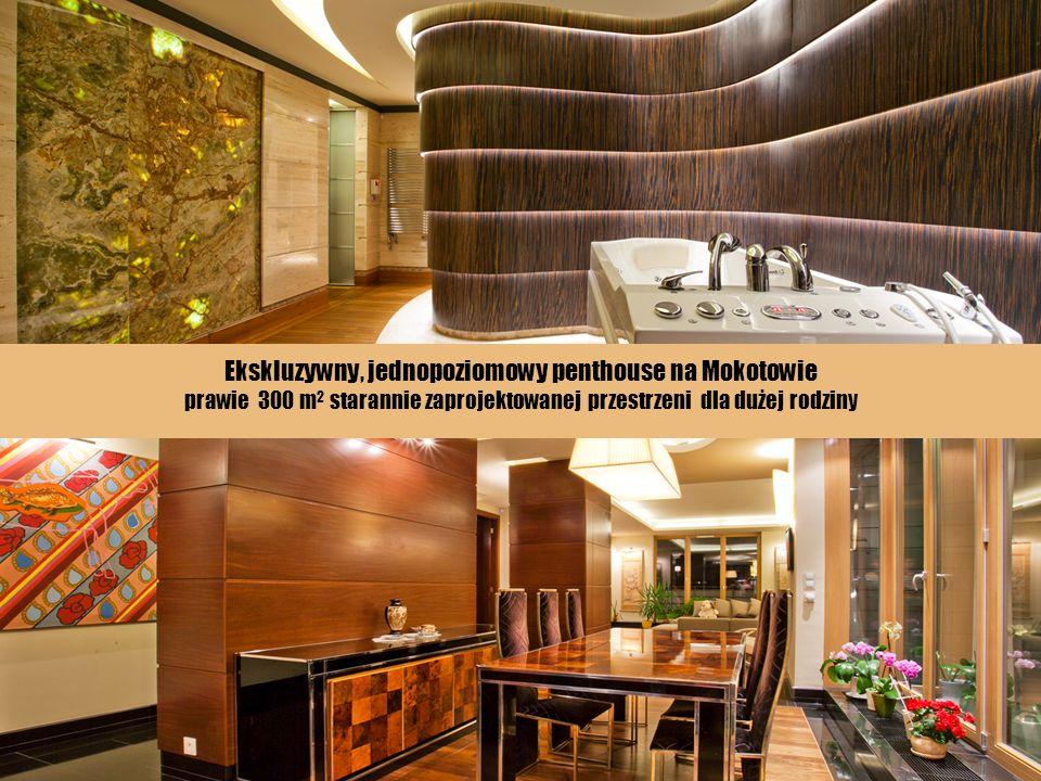 Ekskluzywny, jednopoziomowy penthouse na Mokotowie prawie 300 m2 starannie zaprojektowanej przestrzeni dla dużej rodziny