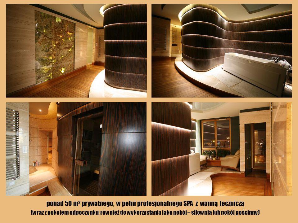 ponad 50 m2 prywatnego, w pełni profesjonalnego SPA z wanną leczniczą