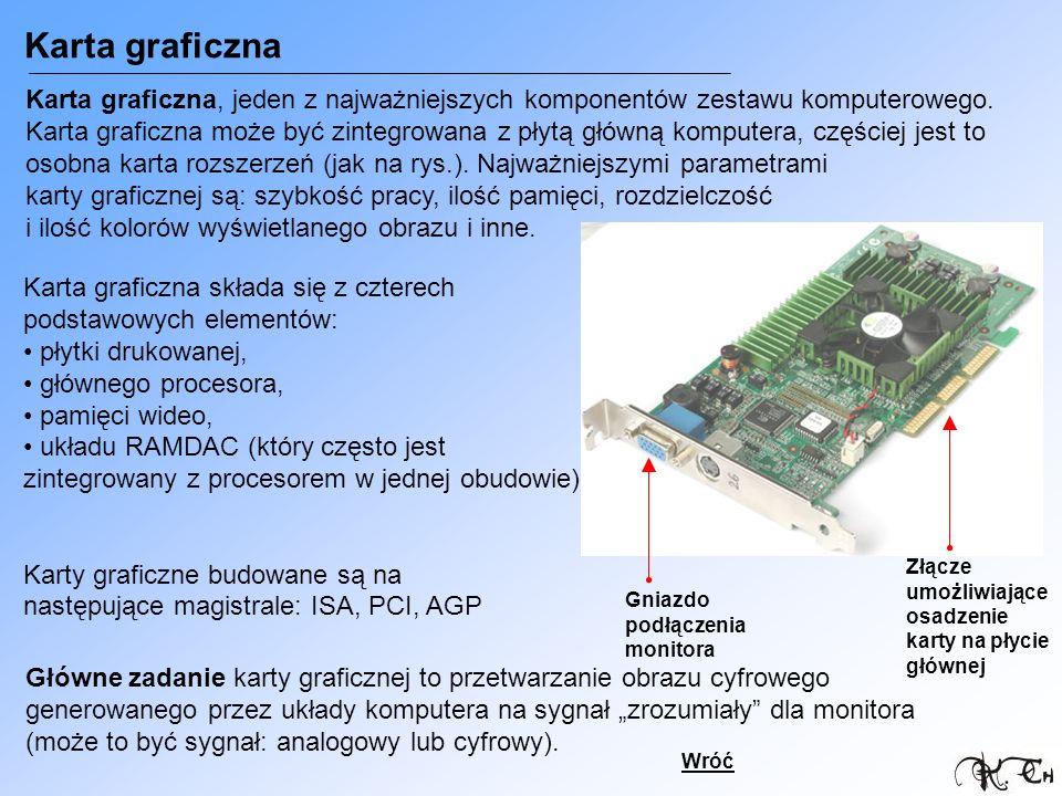Karta graficzna Karta graficzna, jeden z najważniejszych komponentów zestawu komputerowego.