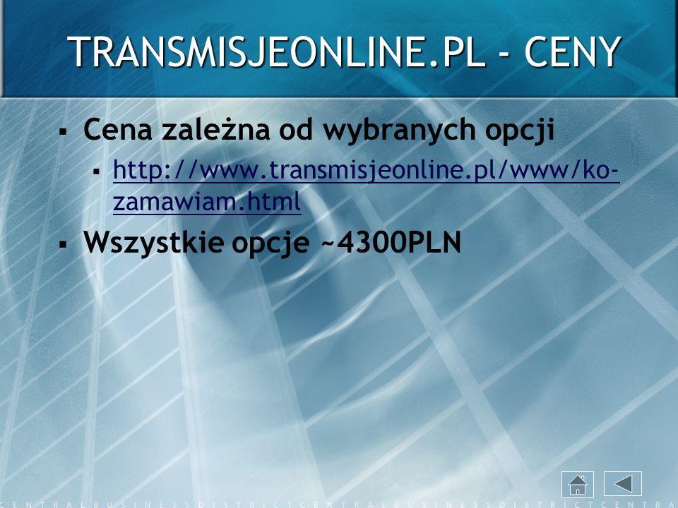 TRANSMISJEONLINE.PL - CENY