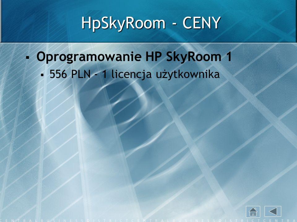 HpSkyRoom - CENY Oprogramowanie HP SkyRoom 1