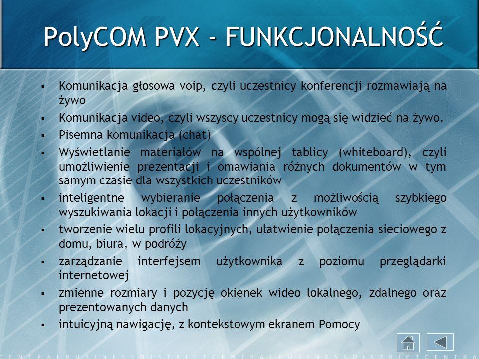 PolyCOM PVX - FUNKCJONALNOŚĆ