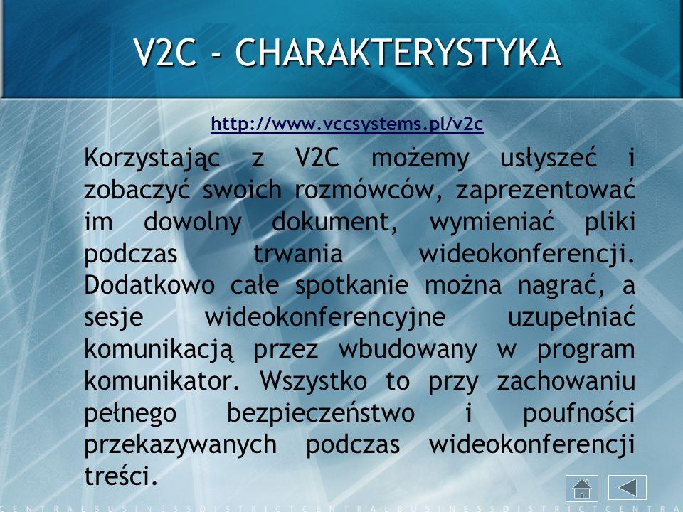 V2C - CHARAKTERYSTYKA http://www.vccsystems.pl/v2c.