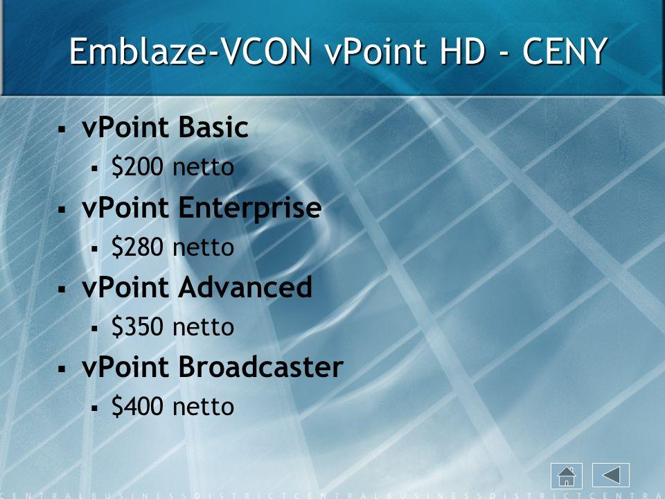 Emblaze-VCON vPoint HD - CENY