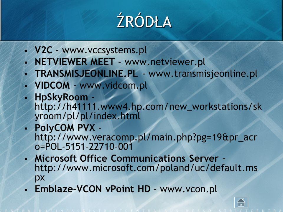 ŹRÓDŁA V2C - www.vccsystems.pl NETVIEWER MEET - www.netviewer.pl