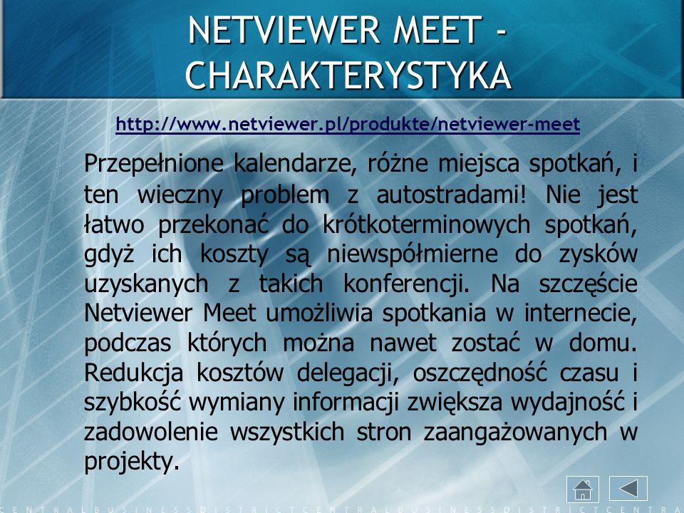 NETVIEWER MEET - CHARAKTERYSTYKA
