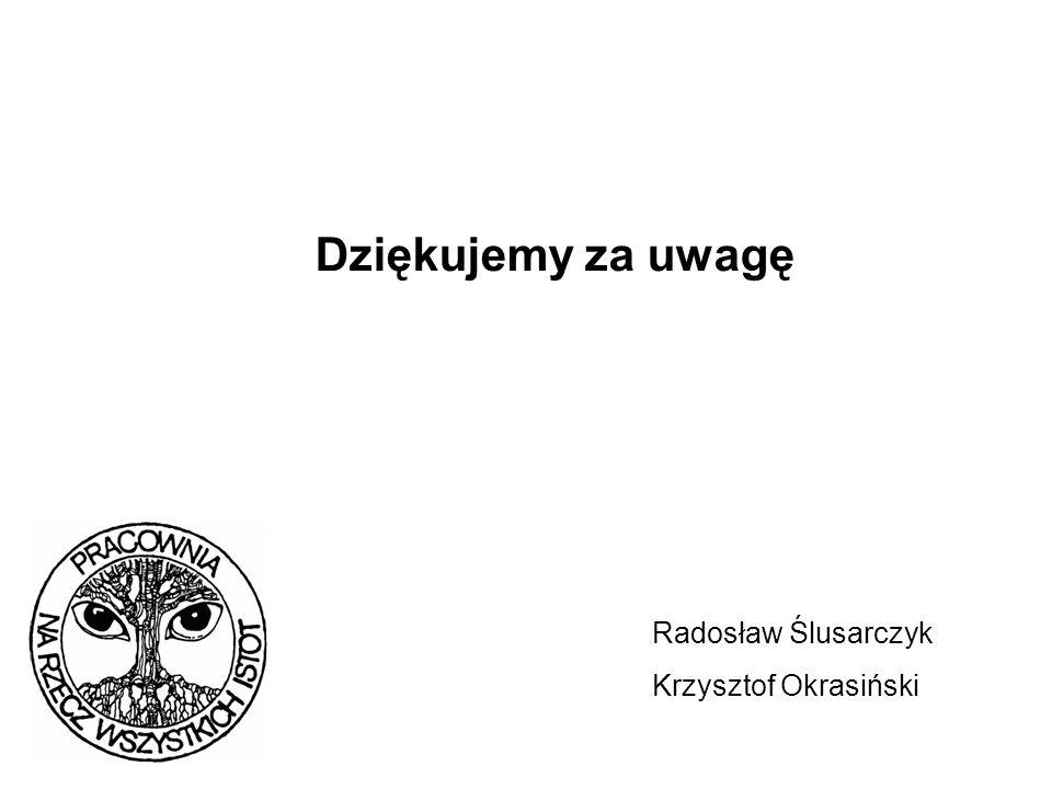 Dziękujemy za uwagę Radosław Ślusarczyk Krzysztof Okrasiński