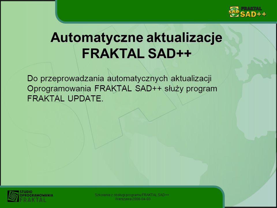 Automatyczne aktualizacje FRAKTAL SAD++