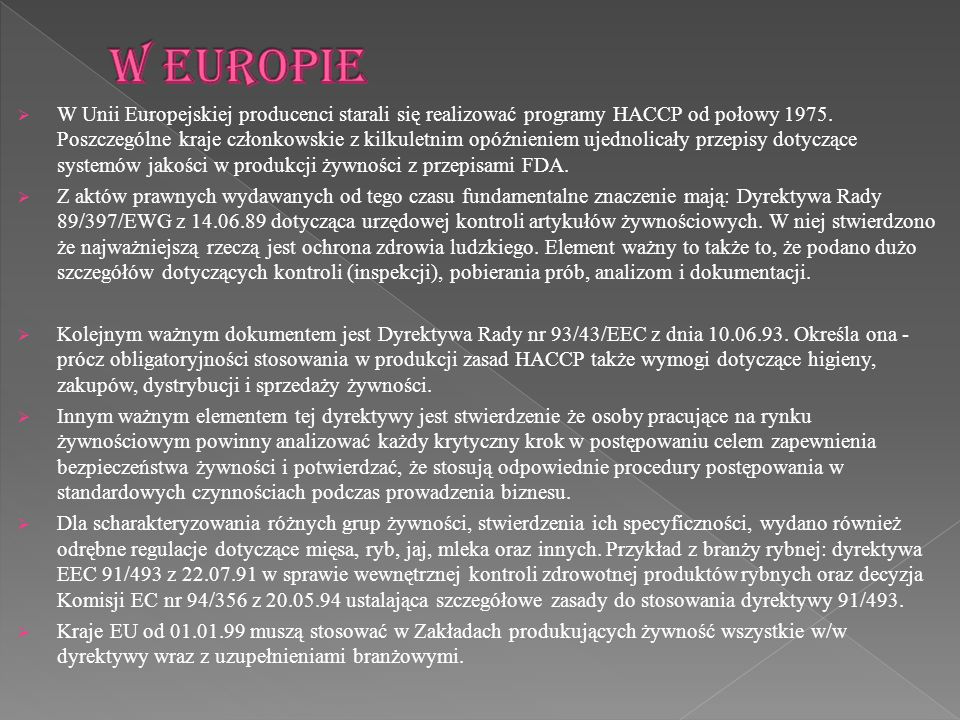 W Europie