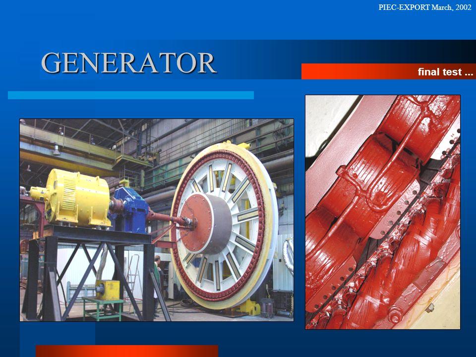 PIEC-EXPORT March, 2002 GENERATOR final test ...
