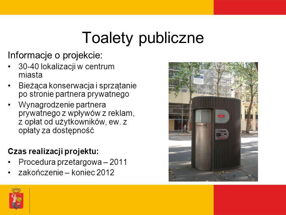 Toalety publiczne Informacje o projekcie:
