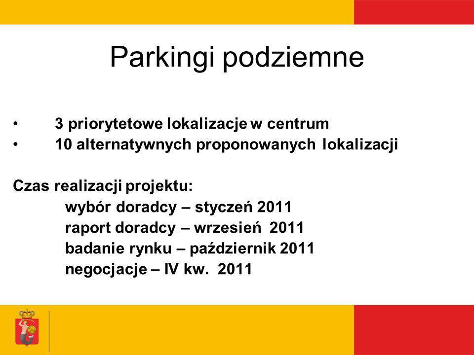 Parkingi podziemne 3 priorytetowe lokalizacje w centrum