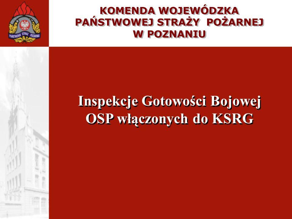 Inspekcje Gotowości Bojowej OSP włączonych do KSRG