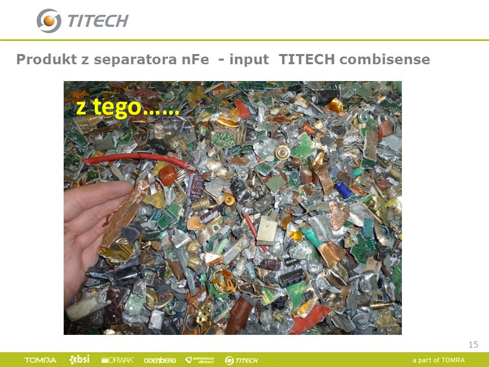 Produkt z separatora nFe - input TITECH combisense