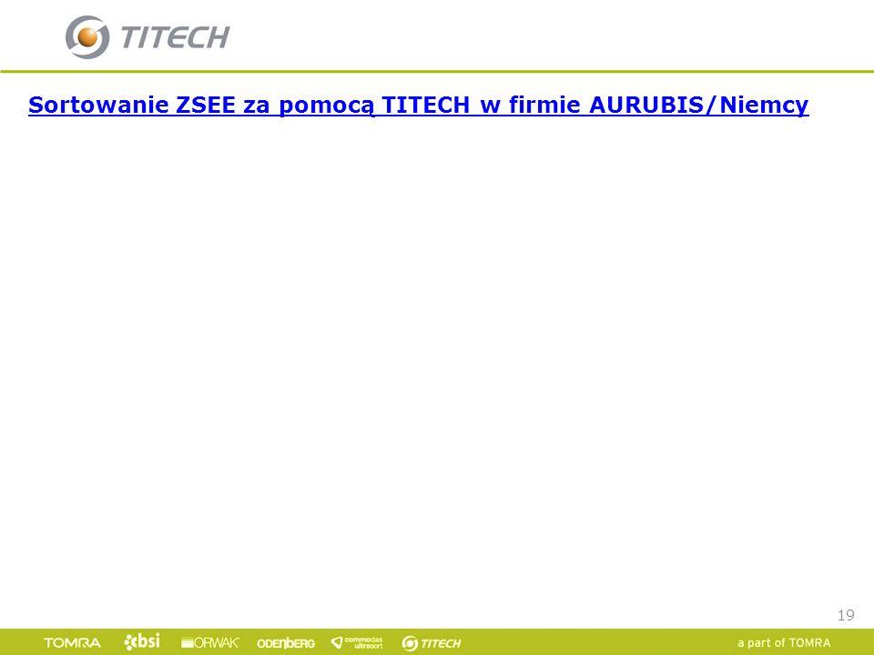 Sortowanie ZSEE za pomocą TITECH w firmie AURUBIS/Niemcy