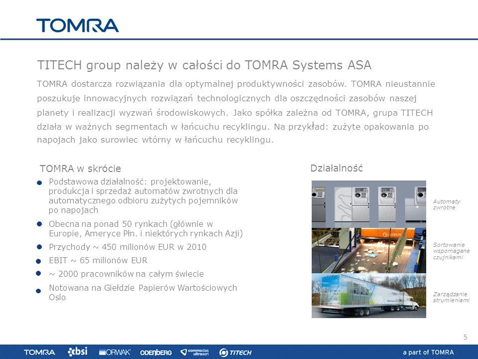 TITECH group należy w całości do TOMRA Systems ASA