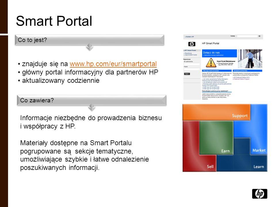Smart Portal znajduje się na www.hp.com/eur/smartportal