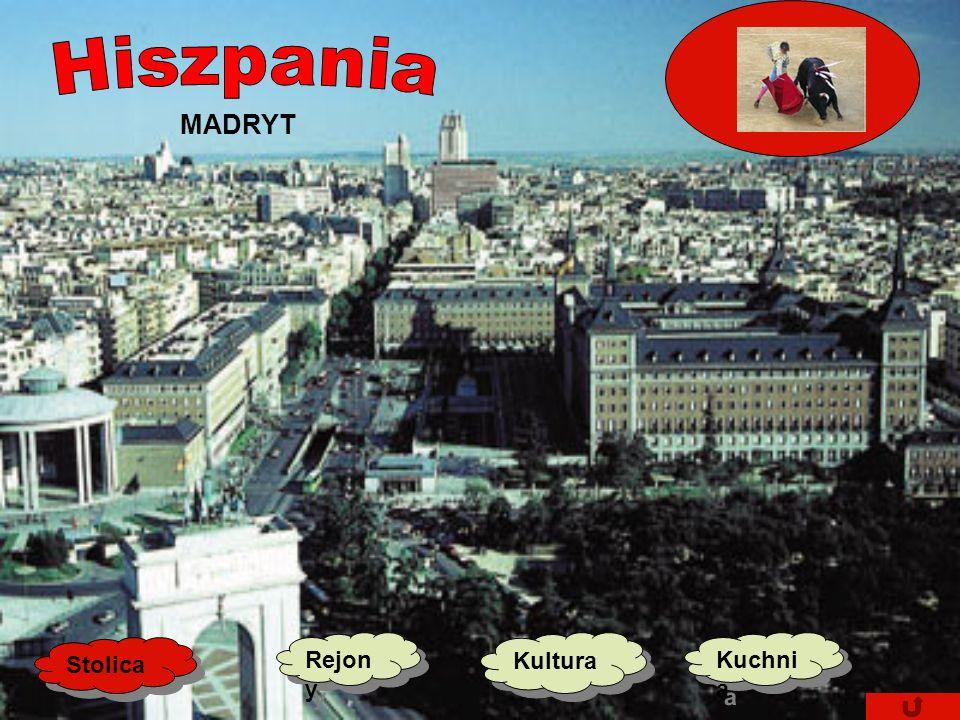 Hiszpania MADRYT Stolica Rejony Kultura Kuchnia