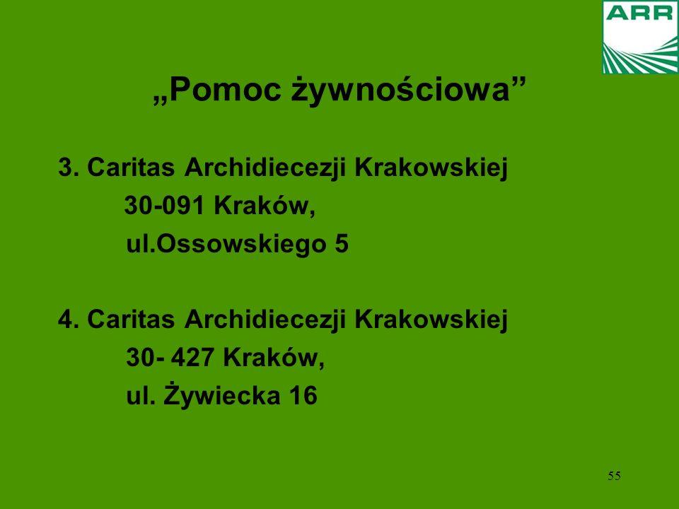 """""""Pomoc żywnościowa 3. Caritas Archidiecezji Krakowskiej"""