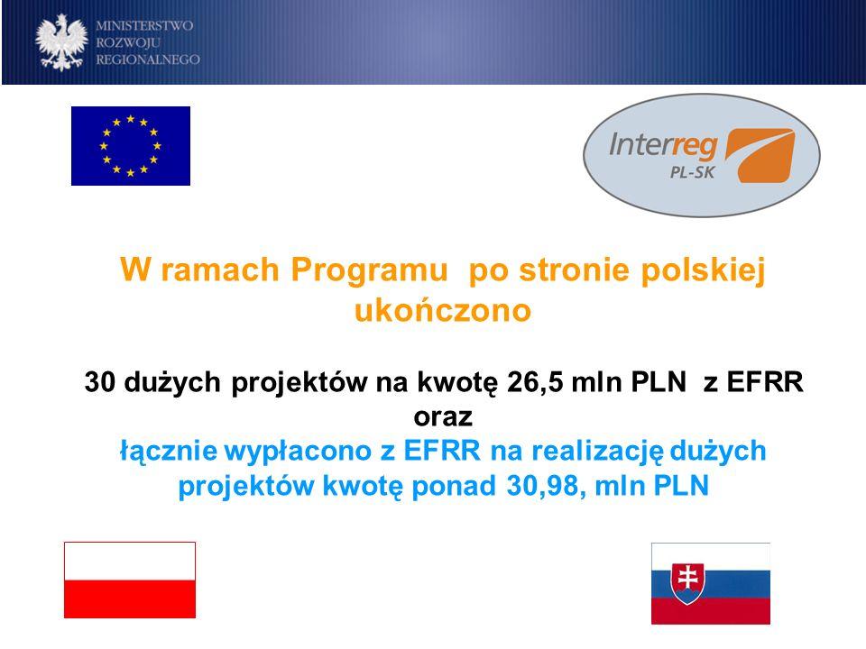 W ramach Programu po stronie polskiej ukończono