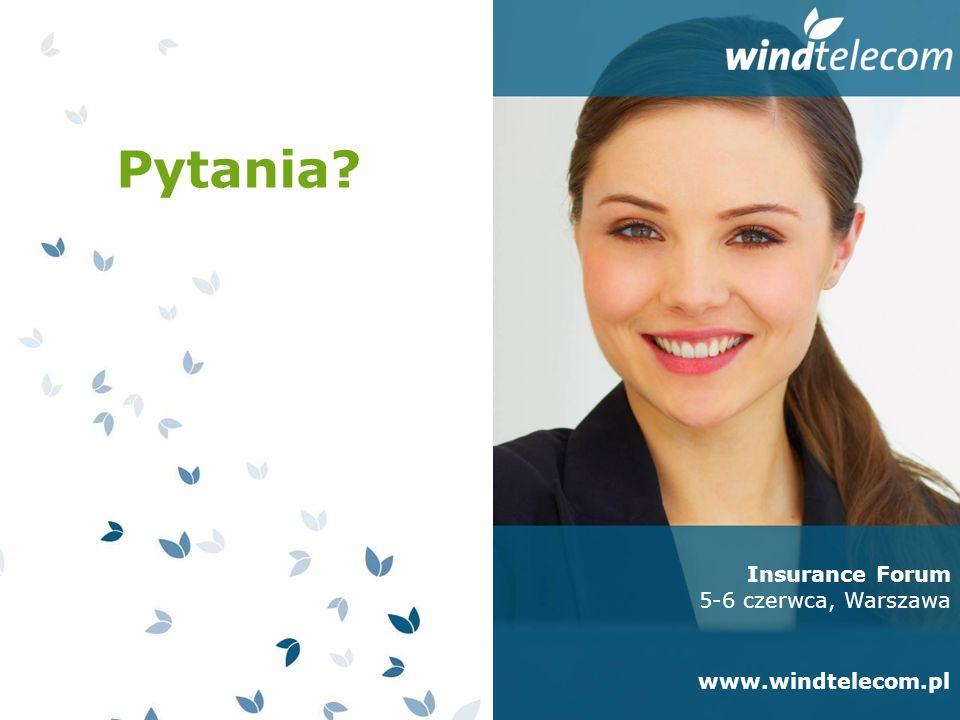 Pytania Insurance Forum 5-6 czerwca, Warszawa www.windtelecom.pl