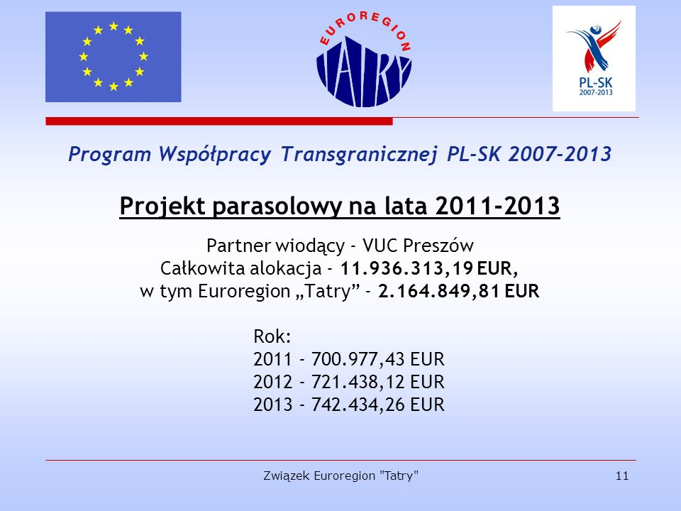 Projekt parasolowy na lata 2011-2013