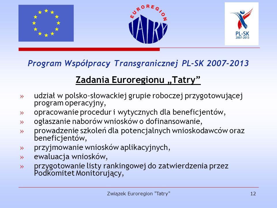 """Zadania Euroregionu """"Tatry"""