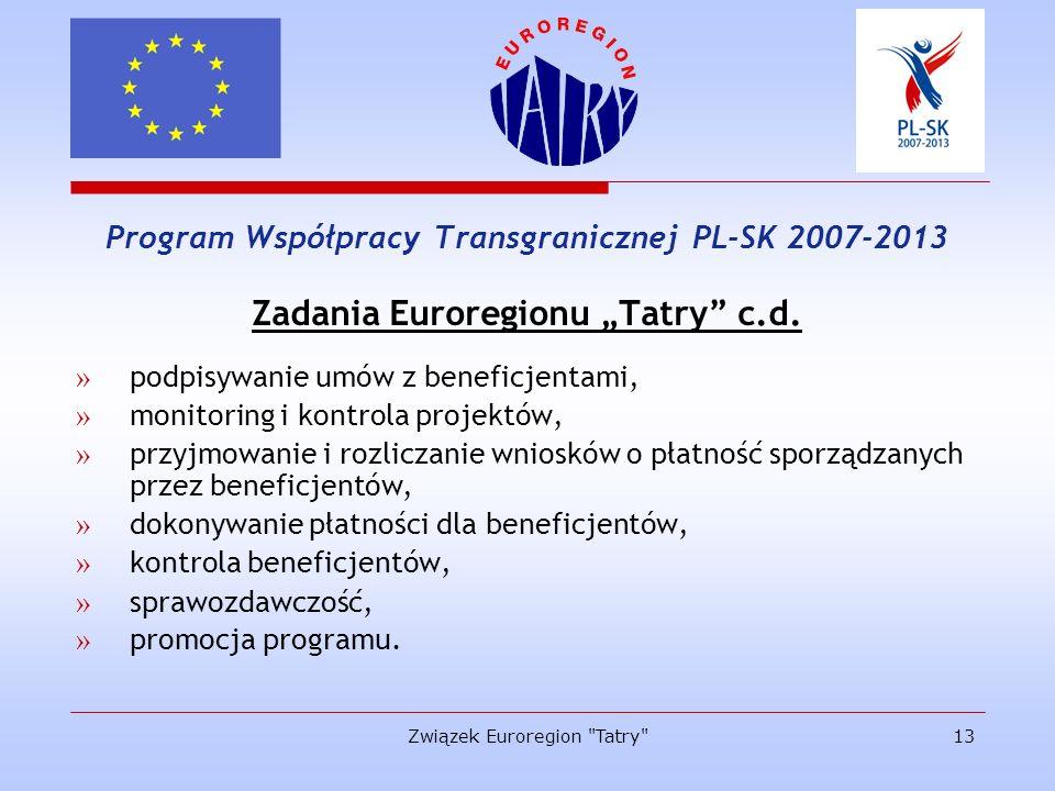 """Zadania Euroregionu """"Tatry c.d."""