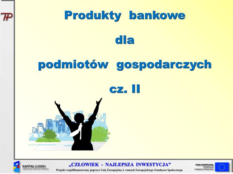 Produkty bankowe dla podmiotów gospodarczych