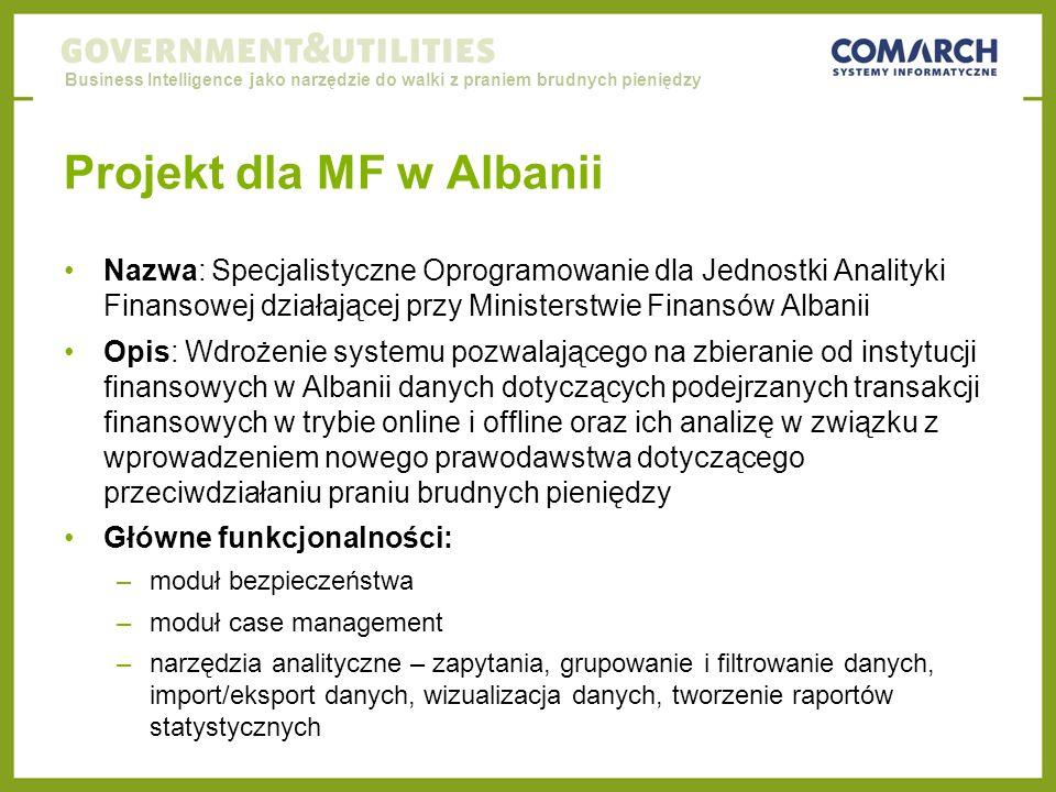 Projekt dla MF w Albanii